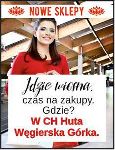 Nowe sklepy CH Huta